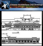 ★Chinese Architecture CAD Drawings-Chinese Architecture Elevation - Architecture Autocad Blocks,CAD Details,CAD Drawings,3D Models,PSD,Vector,Sketchup Download