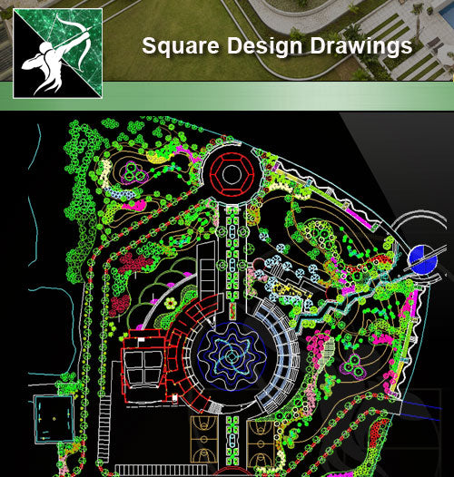 ★Square Design-Landscape CAD Drawings V.3