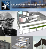 ★Famous Architecture -24 Kinds of Le Corbusier Sketchup 3D Models - Architecture Autocad Blocks,CAD Details,CAD Drawings,3D Models,PSD,Vector,Sketchup Download