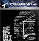 【Wall Details】Typical Wall Details - Architecture Autocad Blocks,CAD Details,CAD Drawings,3D Models,PSD,Vector,Sketchup Download