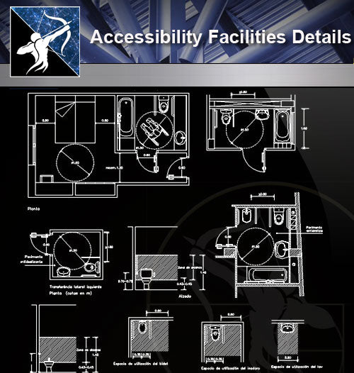 【Accessibility Facilities Details】Accessibility Facilities Details 3 - Architecture Autocad Blocks,CAD Details,CAD Drawings,3D Models,PSD,Vector,Sketchup Download