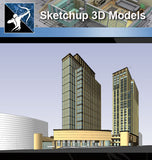 ★Sketchup 3D Models-Business Building - Architecture Autocad Blocks,CAD Details,CAD Drawings,3D Models,PSD,Vector,Sketchup Download
