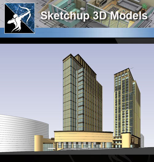 ★Sketchup 3D Models-Business Building