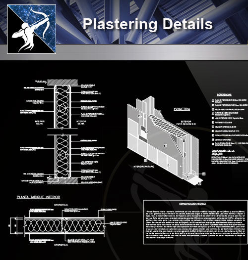【Concrete Details】Plastering details - Architecture Autocad Blocks,CAD Details,CAD Drawings,3D Models,PSD,Vector,Sketchup Download