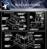 【Roof Details】Roof CAD Details V.2 (Recommanded!!) - Architecture Autocad Blocks,CAD Details,CAD Drawings,3D Models,PSD,Vector,Sketchup Download