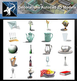 ★AutoCAD 3D Models-Decorations Autocad 3D Models - Architecture Autocad Blocks,CAD Details,CAD Drawings,3D Models,PSD,Vector,Sketchup Download
