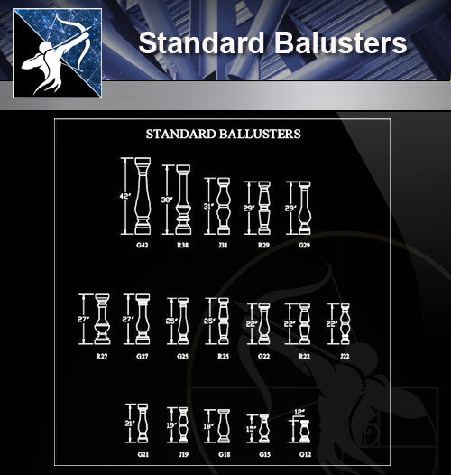 【Free Handrail Details】Standard Balusters