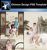 ★★Chinese-Style Family Album Design PSD Template - Architecture Autocad Blocks,CAD Details,CAD Drawings,3D Models,PSD,Vector,Sketchup Download