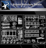 【Architecture Details】School Structure Details - Architecture Autocad Blocks,CAD Details,CAD Drawings,3D Models,PSD,Vector,Sketchup Download