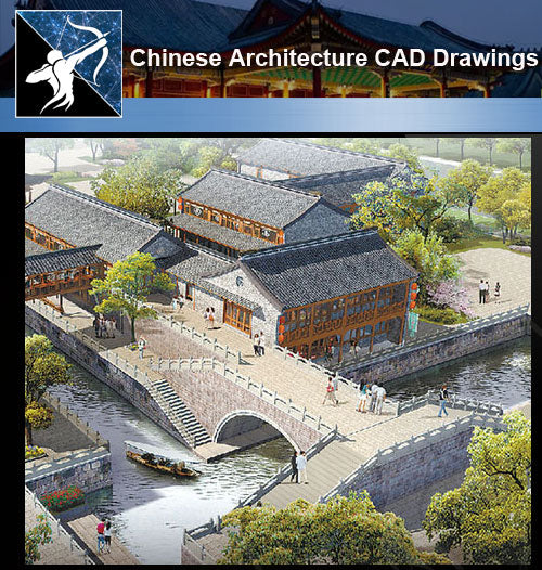 ★Chinese Architecture CAD Drawings-Chinese Tower Design - Architecture Autocad Blocks,CAD Details,CAD Drawings,3D Models,PSD,Vector,Sketchup Download
