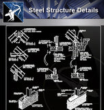 【Free Steel Structure Details】Steel Structure CAD Details 2 - Architecture Autocad Blocks,CAD Details,CAD Drawings,3D Models,PSD,Vector,Sketchup Download