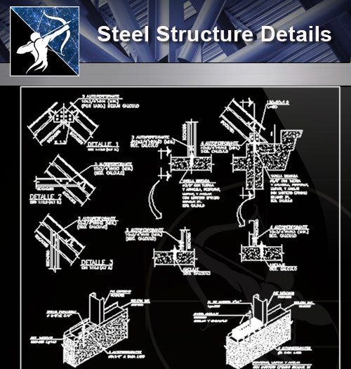 【Free Steel Structure Details】Steel Structure CAD Details 2