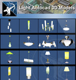 ★AutoCAD 3D Models-Light Autocad 3D Models - Architecture Autocad Blocks,CAD Details,CAD Drawings,3D Models,PSD,Vector,Sketchup Download