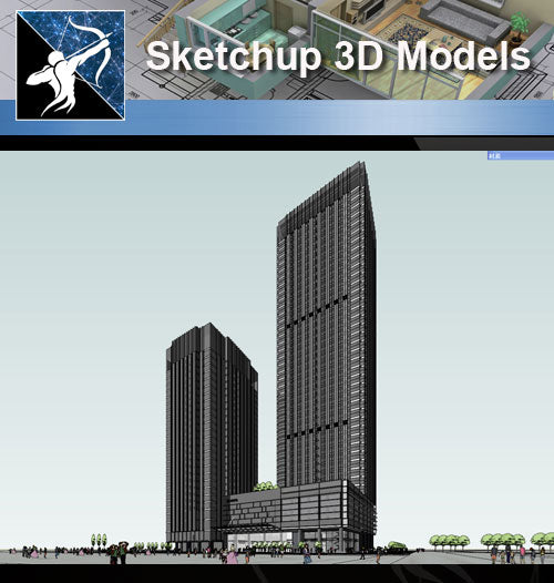 ★Sketchup 3D Models-Business Building Sketchup Models 14