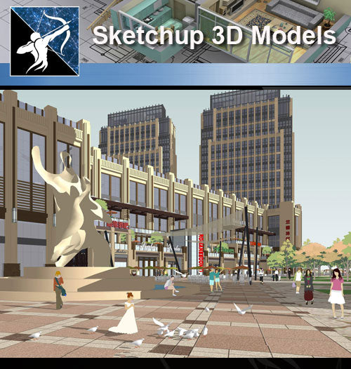 ★★Sketchup 3D Models--Architecture Concept Sketchup Models 4 - Architecture Autocad Blocks,CAD Details,CAD Drawings,3D Models,PSD,Vector,Sketchup Download