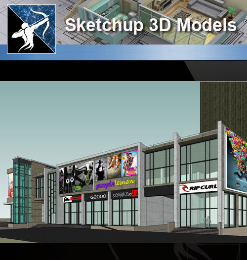 ★Sketchup 3D Models-Business Building Sketchup Models 2