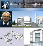 ★Famous Architecture -Richard Meier Sketchup 3D Models - Architecture Autocad Blocks,CAD Details,CAD Drawings,3D Models,PSD,Vector,Sketchup Download