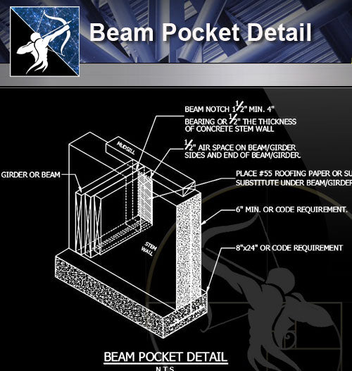 【Free Architecture Details】Beam Pocket Detail
