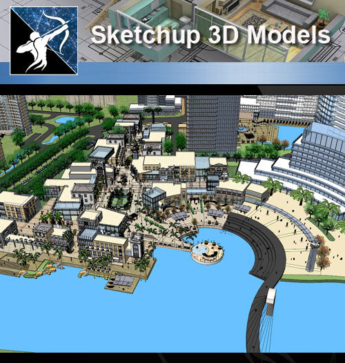 ★Sketchup 3D Models-Large Scale City Sketchup Models