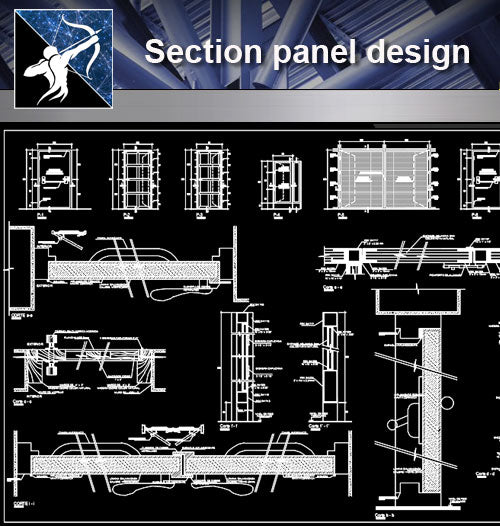 【Wall Details】Section panel design - Architecture Autocad Blocks,CAD Details,CAD Drawings,3D Models,PSD,Vector,Sketchup Download