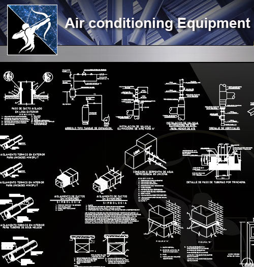 【Electrical Details】Air conditioning Equipment - Architecture Autocad Blocks,CAD Details,CAD Drawings,3D Models,PSD,Vector,Sketchup Download