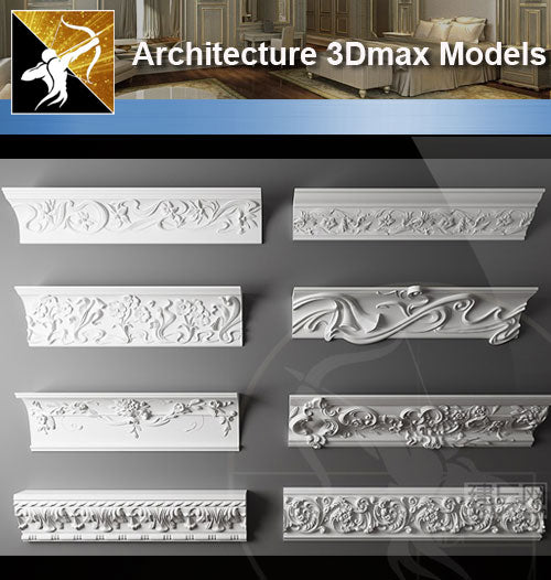 ★Download 3D Max Decoration Models V.4 - Architecture Autocad Blocks,CAD Details,CAD Drawings,3D Models,PSD,Vector,Sketchup Download