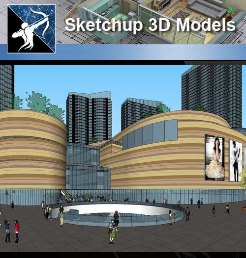 ★Sketchup 3D Models-Business Building Sketchup Models 16