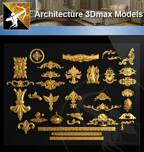 ★Download 3D Max Decoration Models V.6 - Architecture Autocad Blocks,CAD Details,CAD Drawings,3D Models,PSD,Vector,Sketchup Download
