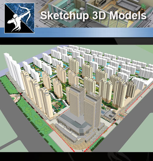 ★Sketchup 3D Models-Business Building Sketchup Models 18