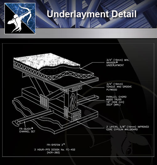 【Free Foundation Details】Underlayment Detail - Architecture Autocad Blocks,CAD Details,CAD Drawings,3D Models,PSD,Vector,Sketchup Download