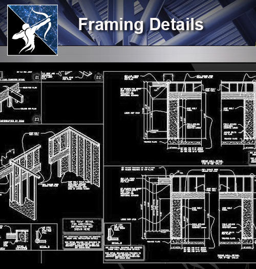 【Curtain Wall Details】Framing Details 2 - Architecture Autocad Blocks,CAD Details,CAD Drawings,3D Models,PSD,Vector,Sketchup Download
