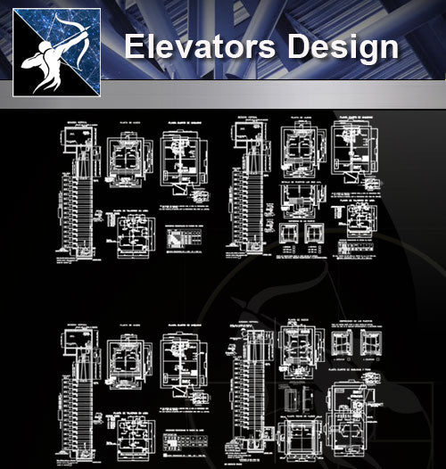 【Stair Details】Elevators design - Architecture Autocad Blocks,CAD Details,CAD Drawings,3D Models,PSD,Vector,Sketchup Download