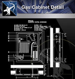 【Architecture Details】Gas Cabinet Detail - Architecture Autocad Blocks,CAD Details,CAD Drawings,3D Models,PSD,Vector,Sketchup Download