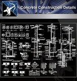 【Concrete Details】Concrete Construction Details - Architecture Autocad Blocks,CAD Details,CAD Drawings,3D Models,PSD,Vector,Sketchup Download