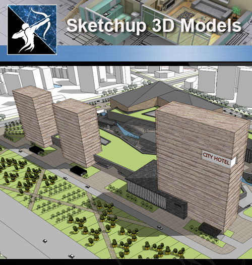 ★Sketchup 3D Models-Business Building Sketchup Models 4