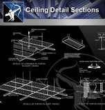 【Architecture Details】Ceiling Detail Sections