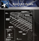 【Roof Details】Roof CAD Details V.1 (Recommanded) - Architecture Autocad Blocks,CAD Details,CAD Drawings,3D Models,PSD,Vector,Sketchup Download