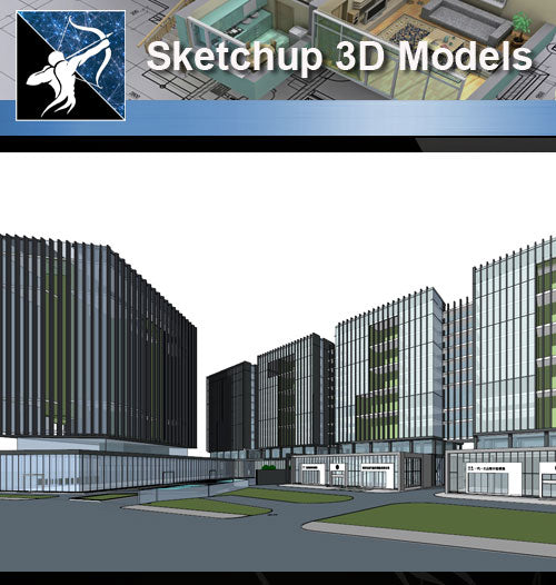 ★Sketchup 3D Models-Business Building Sketchup Models 6