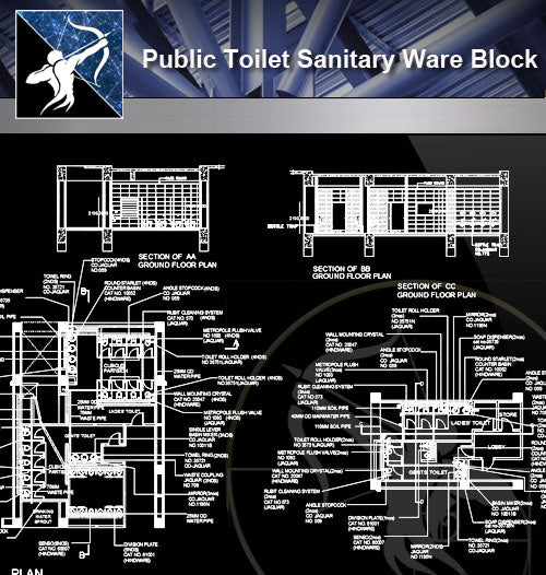 【Sanitations Details】Public Toilet Sanitary Ware Block - Architecture Autocad Blocks,CAD Details,CAD Drawings,3D Models,PSD,Vector,Sketchup Download