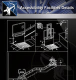 【Free Accessibility Facilities Details】Accessibility Facilities CAD Details 2 - Architecture Autocad Blocks,CAD Details,CAD Drawings,3D Models,PSD,Vector,Sketchup Download