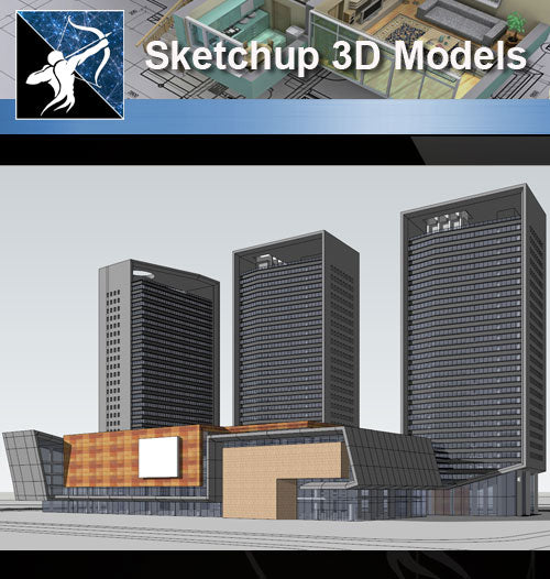 ★Sketchup 3D Models-Large Scale City Sketchup Models 2