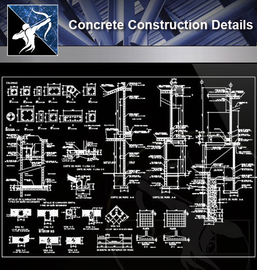 【Concrete Details】Concrete details - Architecture Autocad Blocks,CAD Details,CAD Drawings,3D Models,PSD,Vector,Sketchup Download