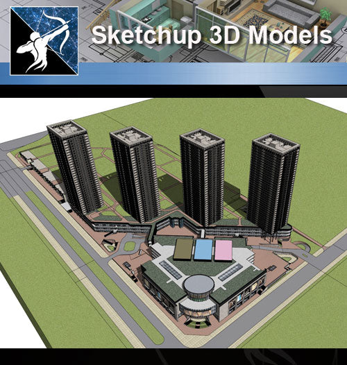 ★★Sketchup 3D Models--Architecture Concept Sketchup Models 21 - Architecture Autocad Blocks,CAD Details,CAD Drawings,3D Models,PSD,Vector,Sketchup Download