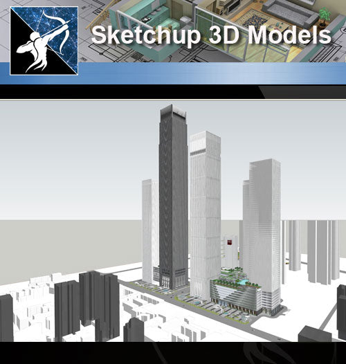 ★Sketchup 3D Models-Business Building Sketchup Models 19