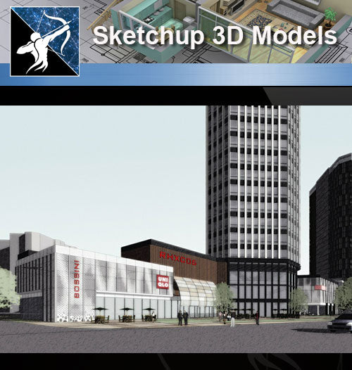★Sketchup 3D Models-Business Building Sketchup Models 12