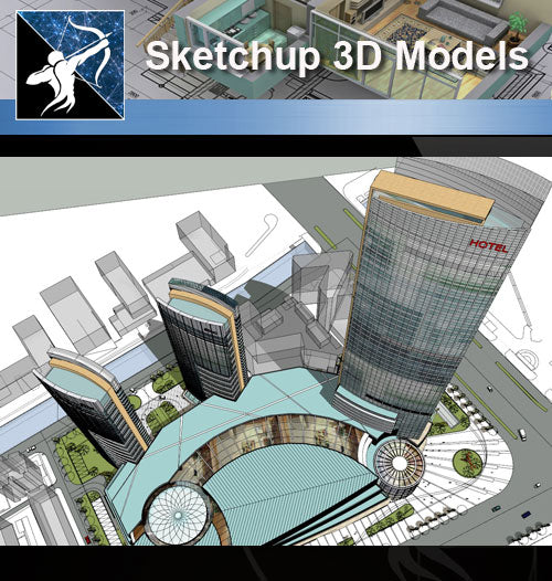 ★★Sketchup 3D Models--Architecture Concept Sketchup Models 8 - Architecture Autocad Blocks,CAD Details,CAD Drawings,3D Models,PSD,Vector,Sketchup Download