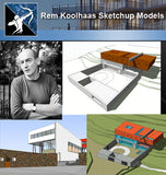 ★Famous Architecture -Rem Koolhaas Sketchup 3D Models - Architecture Autocad Blocks,CAD Details,CAD Drawings,3D Models,PSD,Vector,Sketchup Download