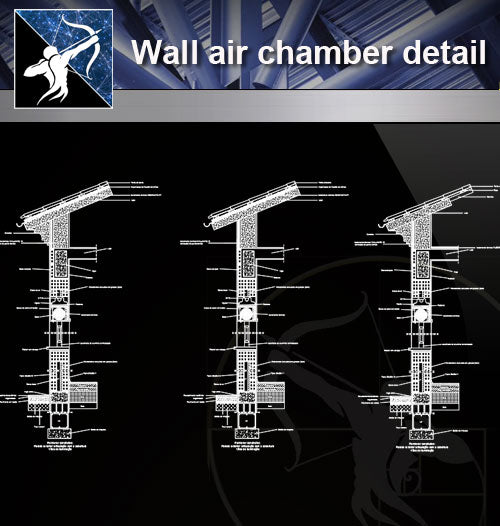 【Free Wall Details】Wall air chamber detail - Architecture Autocad Blocks,CAD Details,CAD Drawings,3D Models,PSD,Vector,Sketchup Download