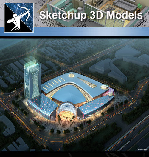 ★★Sketchup 3D Models--Architecture Concept Sketchup Models 20 - Architecture Autocad Blocks,CAD Details,CAD Drawings,3D Models,PSD,Vector,Sketchup Download