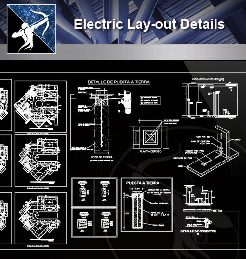 【Electrical Details】Electric Lay-out Details - Architecture Autocad Blocks,CAD Details,CAD Drawings,3D Models,PSD,Vector,Sketchup Download